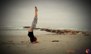 Yoga na plaży